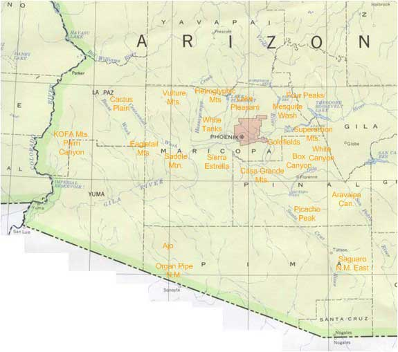 Exploring The Sonoran Desert - - A guide to the Mountains, Canyons ...